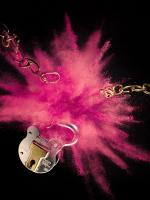 166 Still Life Product Photographer Dennis Pedersen Beauty Cosmetic Powder Release Padlock Explosion Advertising Editorial Creative