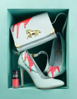 244 Cos-73-Maybelline-Color-Show-Still Life Product Photographer Dennis Pedersen advertising editorial creative cosmetic beauty makeup nail polish varnish gel colour maybelline color show fashion style heel shoe bag handbag drip pour spill bl