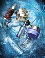 248 WH-16-SS-15-Still Life Product Photographer Dennis Pedersen advertising editorial creative cosmetic beauty makeup cream youth anti age science ice liquid frozen time clarins dior prevage loreal dermalogica skin