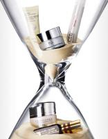 249 BHB-46-Stop-The-Clock-Still Life Product Photographer Dennis Pedersen advertising editorial creative cosmetic beauty makeup cream anti age time sand timer clock science liz earle clinique olay dior estee lauder