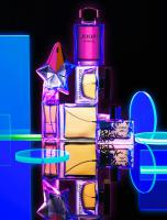 282 Blue-36-Still life product photographer Dennis Pedersen advertising editorial Creative cosmetic beauty perfume fragrance eau glow neon funky night uv black light joop dolce gabbana paul smith thierry mugler david beckham