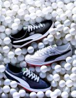 287 SL-9-37-Still life product photographer Dennis Pedersen advertising editorial Creative fashion style footwear trainers shoes sneakers puma ping pong ball sport athletic