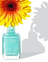 295 Grazia-24-Chanel-Vase-Still life product photographer Dennis Pedersen advertising editorial Creative cosmetics makeup beauty nail varnish polish gel liquid chanel sunshine shadow flower vase spring