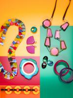 073 Still Life Product Photographer Dennis Pedersen Plastic Jewellery Emilio Pucci Perspex Acrylic Colourful Advertising Editorial Creative