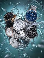 095 Still Life Product Photographer Dennis Pedersen Watches Citizen Tag Heur Certina Rado Rotary Omega Water Splash Waterproof Luxury Advertising Editorial Creative