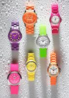 097 Still Life Product Photographer Dennis Pedersen Water Droplets Colourful Watches Fossil Storm Follie Follie Advertising Editorial Creative