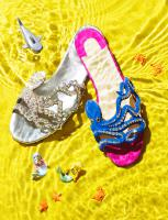 136 STY-66-061 Still Life Product Photographer Dennis Pedersen Fashion -Shoes Sandles Liquid Advertising Editorial Creative liquid water ripple sea ocean beach fashion style sandal flip flop
