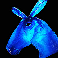 002 1 Still Life Product Photographer Pedersen donkey bag carrier plastic abstract morph animal