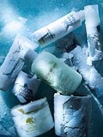 009 1 Still Life Product Photographer Pedersen beauty cosmetic frozen ice snow sparkle