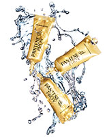 015 1 Still Life Product Photographer Pedersen water beauty cosmetic pantene hair action sparkle splash clean fresh liquid gold