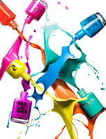 016 1 Still Life Product Photographer Pedersen cosmetic beauty nail varnish polish colour action pour splash spill liquid